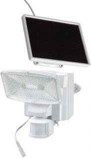 Brennenstuhl LED-Strahler SOL plus / LED-Leuchte für außen mit Bewegungsmelder und Solar-Panel (IP44, inkl. Akku, 8 x 0, 5W) Farbe: weiß