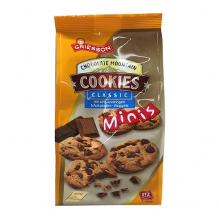 GRIESSON Chocolate Mountain Classic Cookies Mini Mürbegebäck 125g