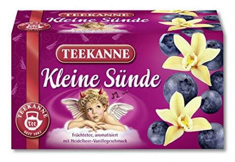 Teekanne Kleine Sünde Früchtetee Heidelbeer Vanille Aroma 3er Pack