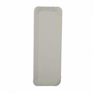 Papstar Einweg Pappteller mit Anfasser eckig 21 cm weiß 250 Stück