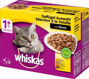 Whiskas Portionsbeutel ab 1 Jahr Geflügelauswahl in Sauce 1200g