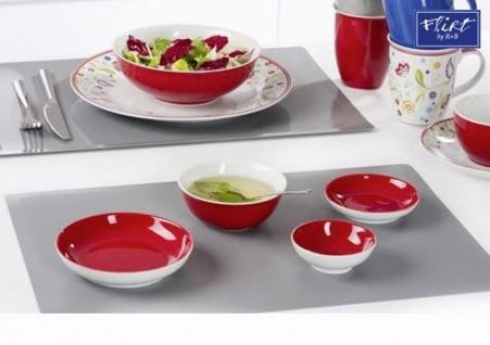 Ritzenhoff und Breker Doppio rot Schale flach aus Porzellan 10cm