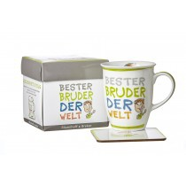 Ritzenhoff und Breker Kaffeebecher mit Geschenkebox Bester Bruder
