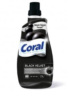 Coral Flüssig Black Velvet schwarz 20 Waschladungen 9000ml 6er Pack