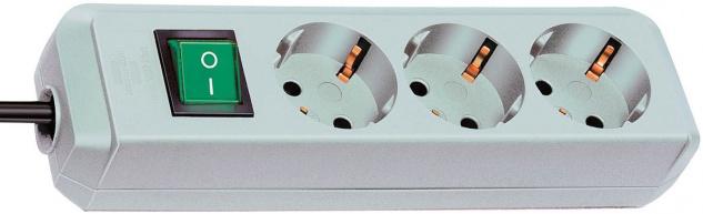 Steckdosenleiste lichtgrau 3-fach