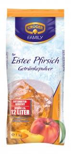 Krüger Eistee Pfirsich Getränkepulver Erfrischungsgetränk 6x1000g