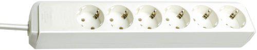 Brennenstuhl Eco-Line Steckdosenleiste 6-fach weiß ohne Schalter, 1159420015