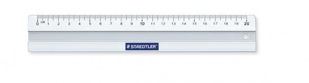 Aluminium-Lineal mit cm Skalierung 20cm