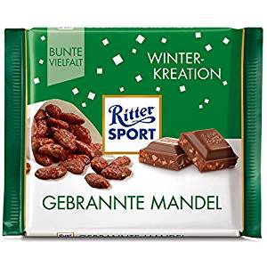 Ritter Sport Schoko gebrannte Mandel Winter Kreation 100g 12er Pack
