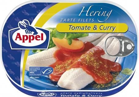 Appel Zarte Heringsfilets Tomate und Curry Pikant verfeinert 200g