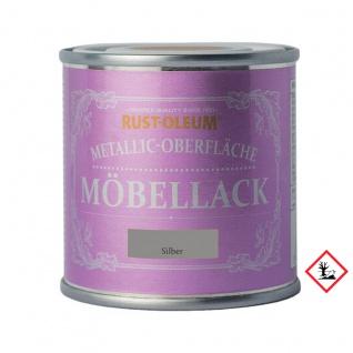 Rust Oleum Metallic Oberfläche Möbellack Silber kreidig matt 125ml