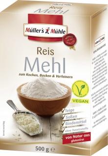 Mühlers Mühle Reis Mehl zum Kochen Backen und Verfeinern 500g