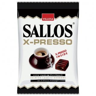 Sallos X Presso Hartkaramellen mit Lakritzgeschmack mit Füllung 135g