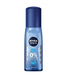 Nivea Deo Zerstäuber for Men Blau Fresh ohne Aluminium 75ml 6er Pack