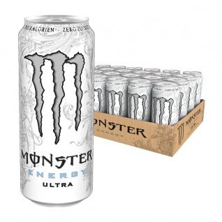Monster Energy Ultra White Erfrischungsgetränk 500ml 24er Pack