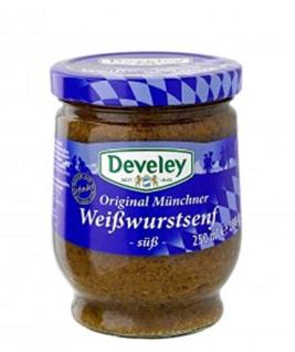 Develey Original Münchener Weißwurstsenf süss praktisch im Glas 250ml