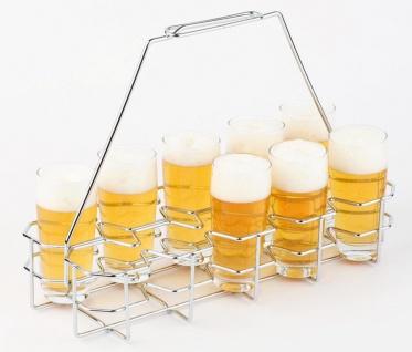 Assheuer Bierglasträger Metall hartverchromt für bis zu 10 Gläser