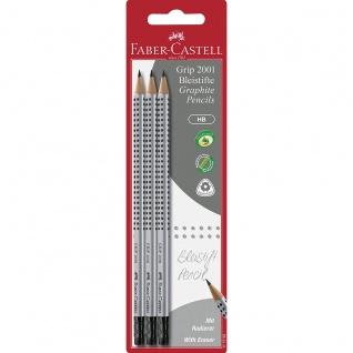 Faber Castell Graphite Pencils Bleistift Grip 2001 HB 3er Set
