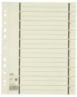 Elba Trennlaschen, Trennblätter Ordner Register Kalender DIN A4 100er Pack