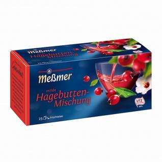 Meßmer Milde Hagebuttenmischung Früchtetee Hibiskus 75g 12er Pack
