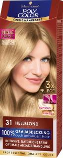 SCHWARZKOPF POLY COLOR Creme Haarfarbe Coloration 31 Hellblond Stufe 3 115 ml