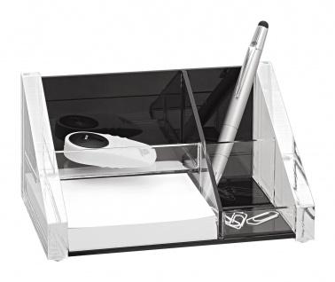 WEDO Acryl Exklusiv Butler 3 Fächer Zettelbox inklusive 150 Blatt