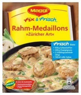 Maggi Fix & Frisch Rahm-Medaillons Züricher Art, 16er Pack (16 x 43 g Beutel)