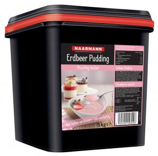Naarmann Erdbeer Pudding mit Sahne verfeinert servierfertig 5000g