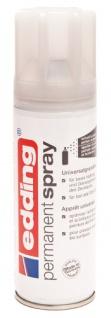 edding 5200 Permanent-Spray - verkehrs-weiß glänzend - 200 ml - Acryllack zum Lackieren und Dekorieren von fast allen Materialien z.B. Glas, Metall, Holz, Keramik, lackierb. Kunststoff, Leinwand - Sprühfarbe