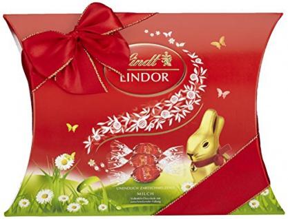 Lindt Lindor Kissenpackung Ostern Vollmilch-Schokolade mit Füllung