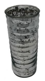Vase Blumenvase Farbe Silber glänzend mit originellem Muster