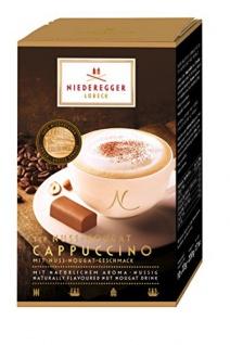 Niederegger Kaffeepulver Nuss Nougat Cappuccino 220g 4er Pack