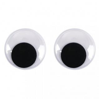 Wackelaugen rund bewegliche Pupille Durchmesser 12mm 10 Stück