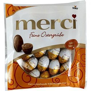 Merci feine Ostergrüße Edel Nougat aus Vollmilchschokolade Eier 120g