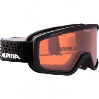 Alpina Scarabeo QH black matt Ski und Snowboardbrille Quattroflex