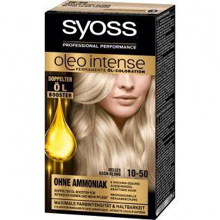 SYOSS Oleo Intense Permanente Öl-Coloration 10-50 Helles Aschblond Stufe 3