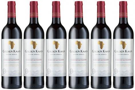Golden Kaan Cabernet Sauvignon Rotwein aus Südafrika trocken 750ml 6er Pack