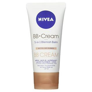 Nivea BB Cream, 5-in-1 Blemish Balm Mittel bis Dunkel, 1er Pack (1 x 50 ml)