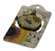 Schlüsselkappe Schlüsselköpfe in Form einer Sonnenblume Name Julia