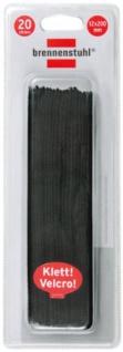 Brennenstuhl Klett-Kabelbinder 12mm x 200mm schwarz, 1164320