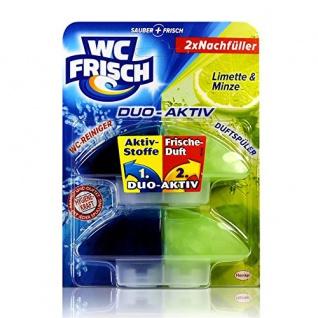 WC Frisch Duo Aktiv WC Reiniger und Duftspüler Nachfüller Limette & Minze