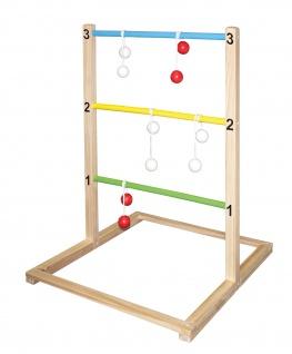 Beluga Leitergolf Spielwaren 70425 mit jeweils 3 Bolas in rot und weiß