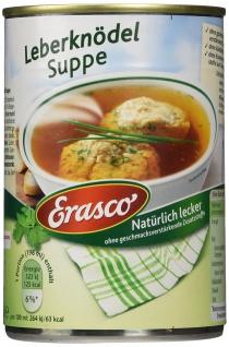 Erasco Leberknödel Suppe mit kräftige klare Brühe 395ml 3er Pack