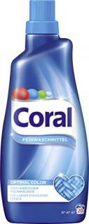 Coral Feinwaschmittel Optimal Color flüssig 20 WL 1500ml Flasche