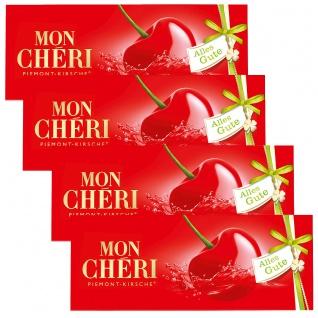 Mon Cheri Likör Kirschen aus Halbbitter Schokolade 105g 4er Pack