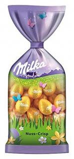 Milka Oster Eier Nuss Crisp Ostereier mit Nougat Creme Crispies 100g