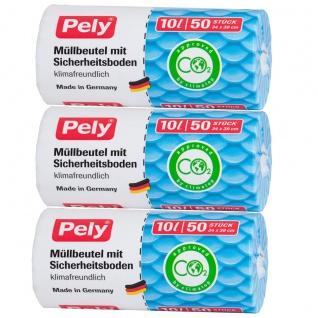 Pely Müllbeutel mit Sicherheitsboden klimafreundlich 50 Stück 10L