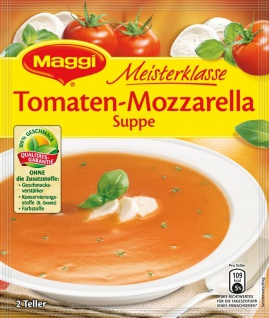 Maggi Meisterklasse Tomaten Mozzarella Suppe für 0, 5l
