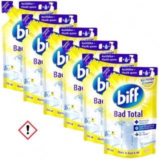 Biff Bad Total Zitrus Nachfüllpack Konzentrat 250ml 6er Pack