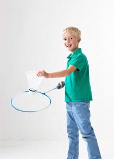 XXL Riesen Badminton Set, Federball Set, Jumbo Tennis für den Garten
